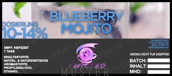 Twisted - Blueberry Mojito Aroma 10ml