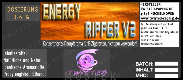 Twisted - Energy Ripper V2 Aroma 10ml