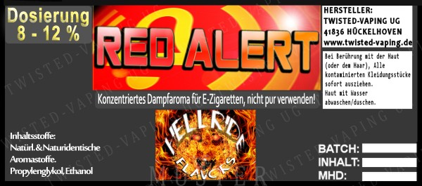 Twisted Hellride - Red Alert 10ml