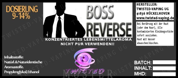 Twisted - Boss Reverse Aroma 10ml