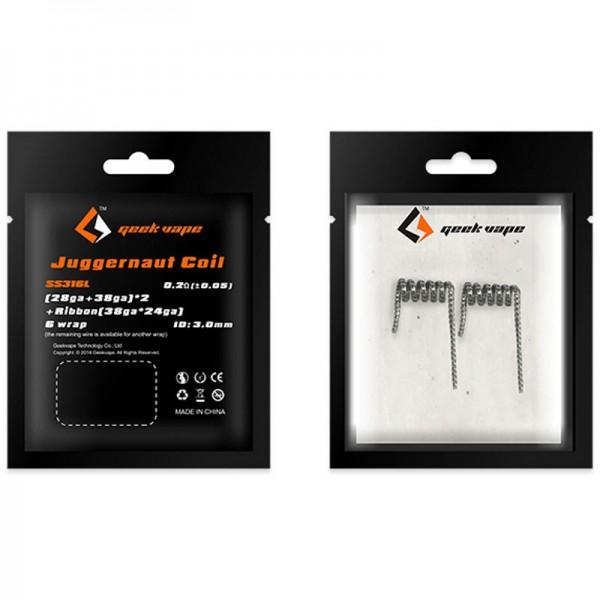 GeekVape - SS316L Juggernaut Coil 2er Pack