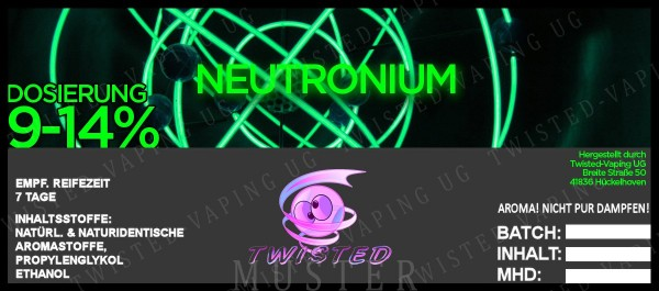 Twisted - Neutronium Aroma 10ml