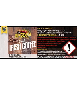 K-Boom - Fresh Irish Coffee Aroma 10ml