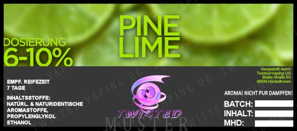 Twisted - Pine Lime Aroma 10ml