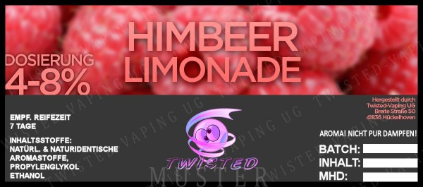 Twisted - Himbeer Limonade FlavourShot Aroma 10ml