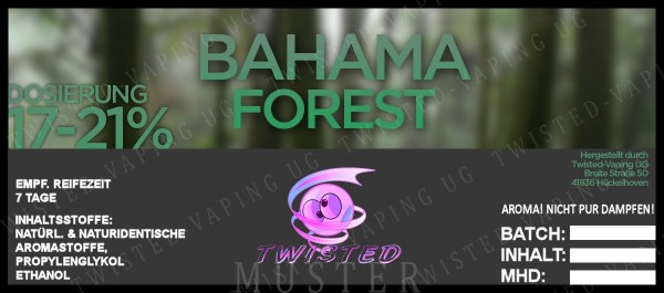 Twisted - Bahama Forest Aroma 10ml