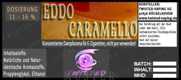 Twisted - Eddo Caramello Aroma 10ml