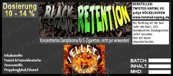 Twisted Hellride - Black Retention 10ml