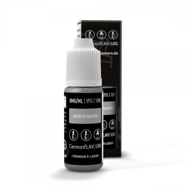 GermanFLAVOURS - Erdbeer / Menthol Liquid 10ml