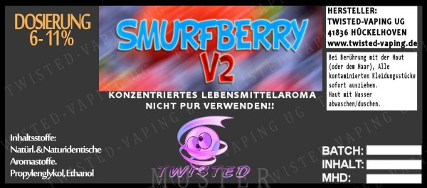 Twisted - Smurfberry V2 Aroma 10ml