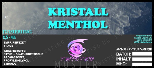 Twisted - Kristall Menthol Aroma 10ml
