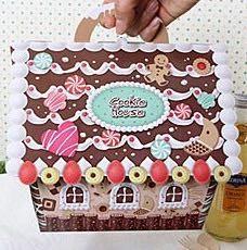 Geschenkverpackung Typ Lebkuchen Haus