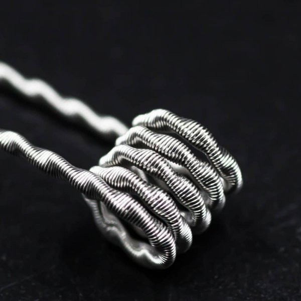 Jolly Wire - 2 Core Twisted NI80 0,32 Ohm Fused Clapton Coils 26*2/36G Handwrapped 2er Pack