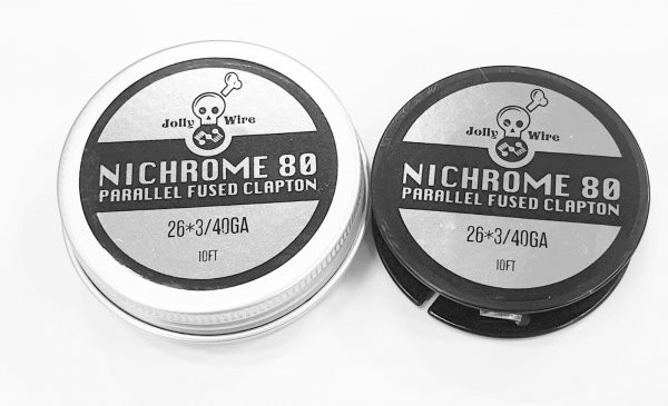 Jolly Wire NI80 Parallel Fused Clapton Rolls 26*3/40GA 3 Meter (10ft)