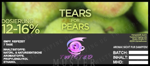 Twisted - Tears for Pears Aroma 10ml