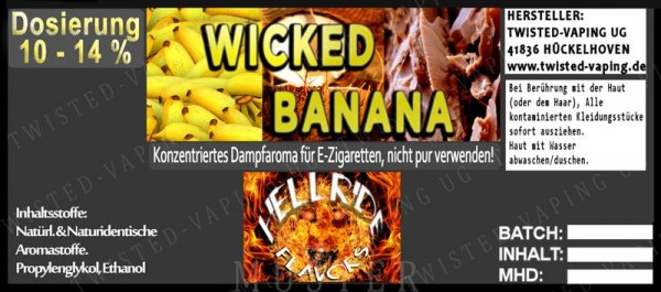 Twisted Hellride - Wicked Banana 10ml