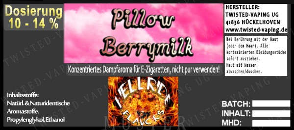 Twisted Hellride - Pillow Berry Milk 10ml